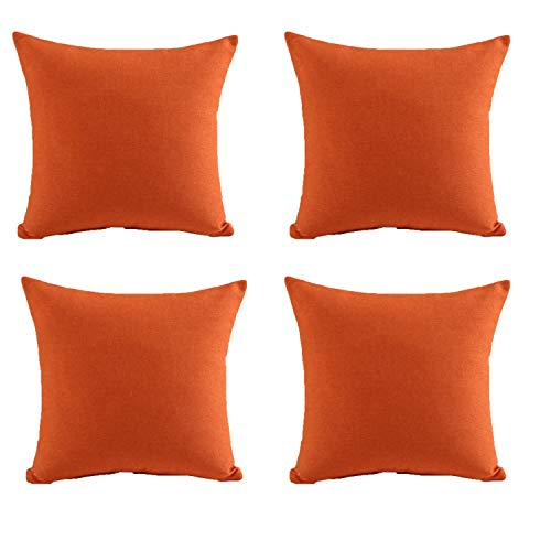 U'Artlines Pillowcase Covers, Fine Linen Orange Pillow Case Decorative Cushion Cover Pillowcase for Sofa Pillow Cover (18