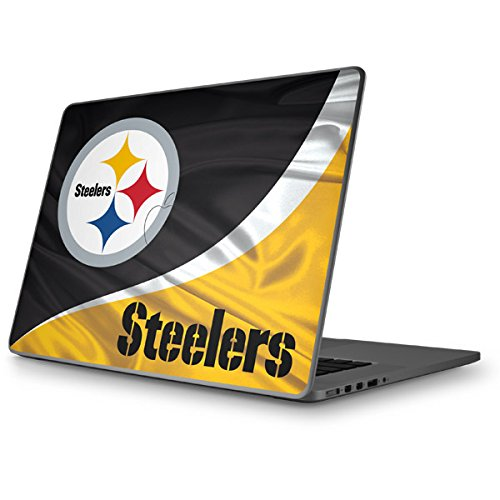 Skinit Pittsburgh Steelers Macbook Pro 15 (2011-2012) Skin - Officially Licensed NFL Laptop Decal - Ultra Thin, Lightweight Vinyl Decal Protection