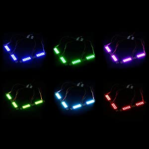 iFlight 4pcs FPV 5V Programmable RGB LED Lights Strip + 40A PDB 3535 Multi-Colors Race Wire for FPV Racing Drone Quadcopter(10 Lamps Board) (Tamaño: led-ball-2482)