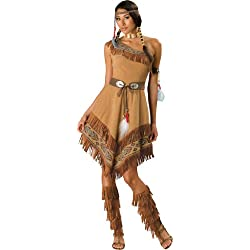 InCharacter Costumes, LLC Women's Indian Maiden Costume, Brown, Small