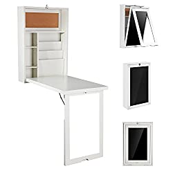 space saving table with storage