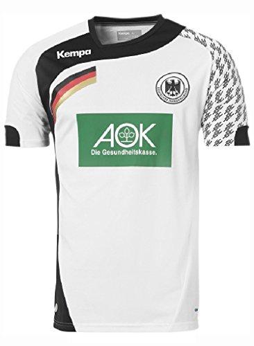 Kempa DHB Handball Home/Heim Trikot 2016 - weiß/schwarz, Größe:L