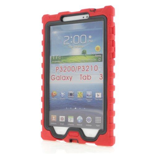 Samsung Galaxy Tab 3 7 inch (2013) Red Shock Drop Hard Ca...