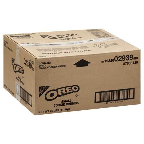 Oreo Pieces Small Crunch Cookie Crumbs 25 Lbs box by Nabisco