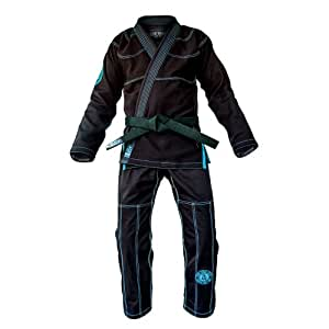"War Tribe Gear Kevlar Series Gi - Black & Teal (A5 (6'4""& Over/255 lbs & Over))"