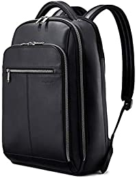 Classic Leather Backpack, Black, One Size