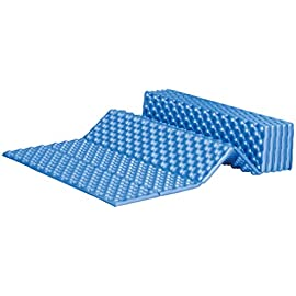 ALPS Mountaineering Foldable Foam Mat, Blue 1 Accordion folding style for a convenient, small packing size Egg crate foam provides you a comfortable sleeping surface Lightweight, closed-cell foam protects and insulates
