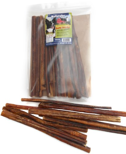 Bellyrubs Organic 12-Inch Bully Stick Dog Treat, 10-Piece