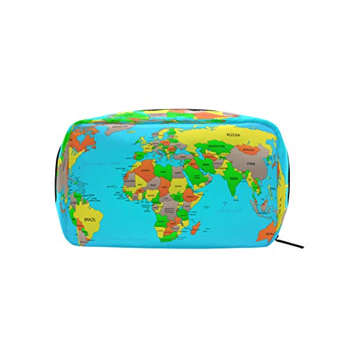 World Map Makeup Case Cosmetic Bag