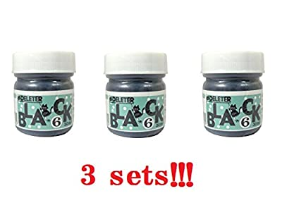 """Deleter Ink """"Black 6"""" (3sets) for Manga/Comic drawing From Japan"""
