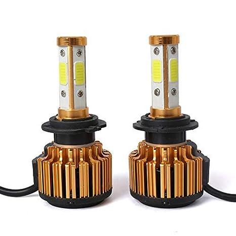 2x COB H4 LED Headlight Kit 9003 110W 24000LM 6000K Xenon White Conversion Bulbs