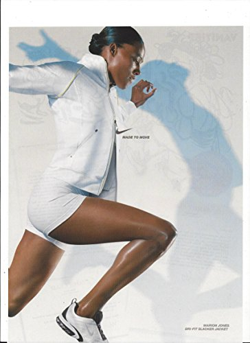 --Print Ad-- With Marion Jones For 2004 Nike Jackets --PRINT AD--