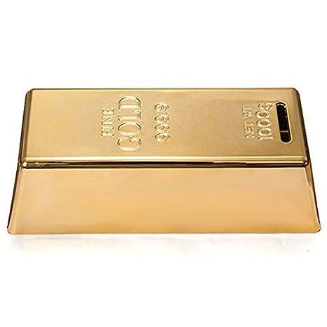 Box Online - Gold Bullion Piggy Coin Bank Moneybox Money Saving Box
