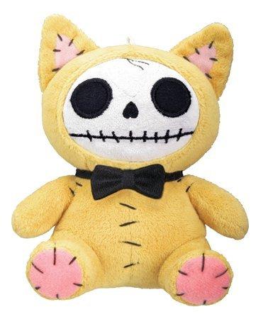Furrybones Yellow Cat Mao Mao Wearing Black Bow Tie Small Plush Doll ()