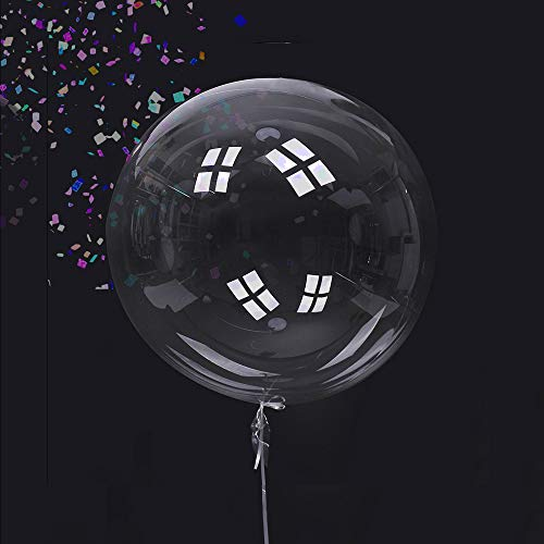 Clear Balloons-50 Pack of Big Round Transparent bobo Bubble Balloons 20 inches for Helium use