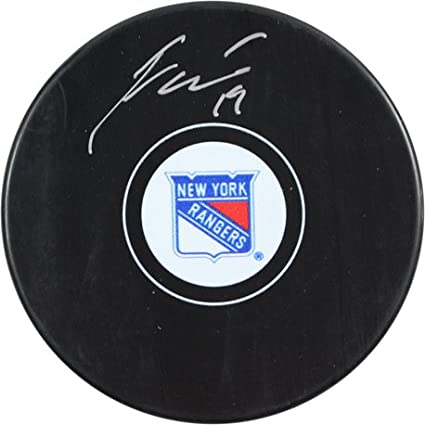 Image Unavailable. Image not available for. Color  New York Rangers Jesper  Fast signed Puck 0027418cc