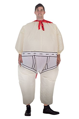 Captain Costume with Printed Underpants and Cape Chub Suit (Adult Standard) ()