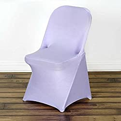 Efavormart 100 PCS Stretchy Spandex Fitted Folding Chair Cover Dinning Event Slipcover For Wedding Party Catering - Lavender