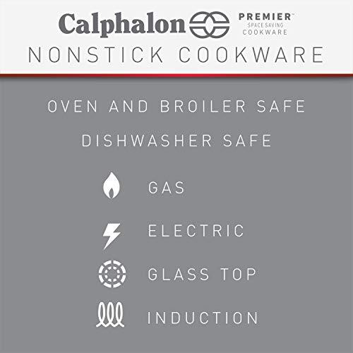 41mh6r1lOeL - Calphalon Premier Space Saving Nonstick 15 Piece Set
