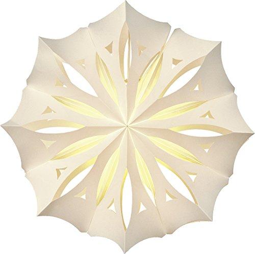 Luna Bazaar White Pizzelle Paper Lantern (anice design)