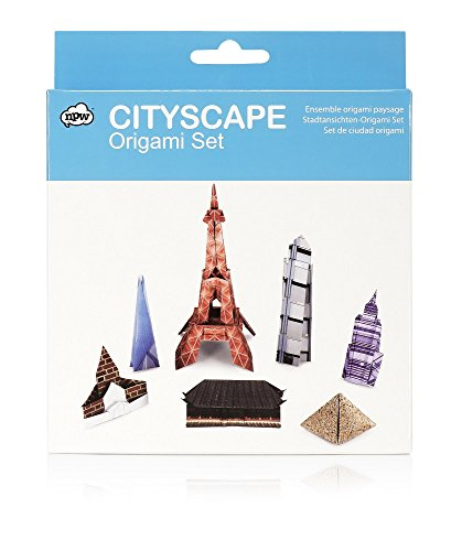 NPW Cityscape Origami Set, 100 Sheets of 6 x 6 Origami Paper + Manual for 10 World Landmarks ()