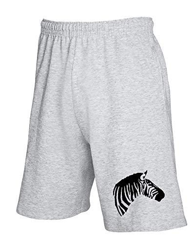 Wild Head Grigio Tuta Pantaloncini Zebra Animals T Fun4237 shirtshock CqwBaXa