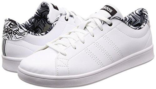 Blanches Cblack Clean 000 ftwwht Ftwwht Adidas Advantage Basses Baskets Femme Qt zYqI7Bx