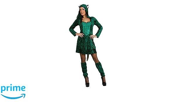 Traje de cocodrilo Mujer Ta.S, vestido de carnaval Disfraz de ...