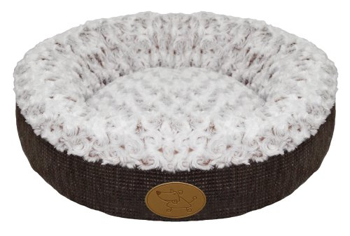 Best Pet Supplies Curl Plush Doughnut Bed for Pets, 18-Inch,