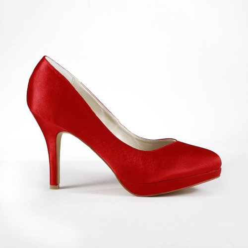 mariage Wedding mariée JIA femme de 37029 chaussures Escarpins Rouge JIA YnnqB4