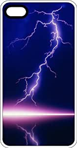 Purple Lightning Strike White Plastic Case for Apple iPhone 5 or iPhone 5s