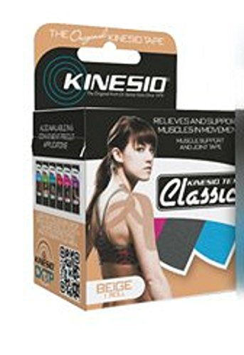 Kinesio - Tex Classic - Kinesiology Tape - Water Resistant Cotton 2 Inch X 4.4 Yard Beige NonSterile - 6/Package - McK by Kinesio Tex Classic