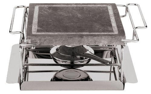 (Paderno World Cuisine 9-Inch Stone Grill Set by Paderno World)