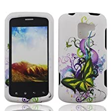 Green Butterfly Hard Faceplate Cover Phone Case for Lg Optimus Q L55c