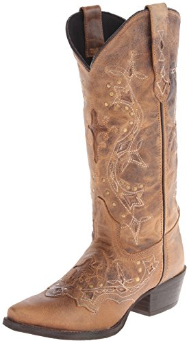 Laredo Women's Cross Point Western Boot,Brown,7.5 M US by Laredo