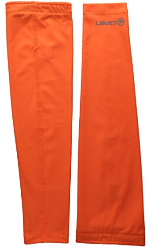 (CANARI Solar Flare Arm Warmers, Solar Orange, Medium)
