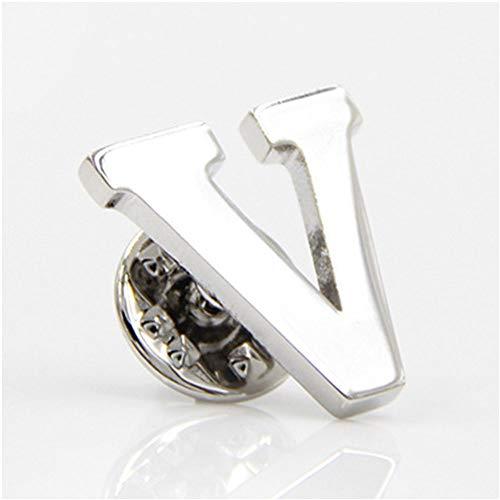 MINGHUA Monogram Alphabet Letters Lapel Pin Badge (V)
