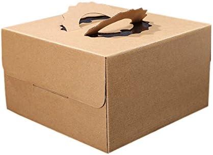 Weanty 5 Unids Cajas de Pastel de Regalo de Papel Kraft Cupcake Boxes Portátil Titular para Cumpleaños Fiesta de Bienvenida al Bebé Caja de Regalo Caja de Regalo 4 Inch 15*15*10cm: Amazon.es: