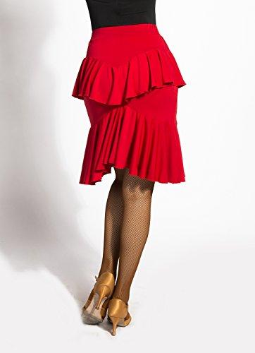 Lotus Latine de Feuille de red Salon Style Jupe la SBS de G2046 SCGGINTTANZ de Professionnel Danse qwYnOp