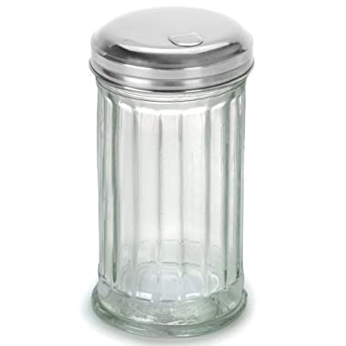 12 Ounce - Glass Sugar Dispenser with Stainless Steel Lid