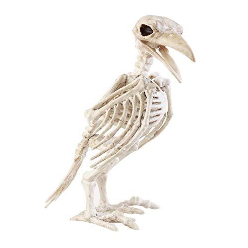 Decorative Decorative - Halloween Crazy Bone Skeleton Raven 100 Plastic Animal Bones Horror Prop Bird Crow Decoration - Props Bedroom Pillows Decorative Skeleton Decoration]()