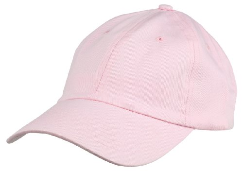 Dalix Unisex Unstructured Cotton Cap Adjustable Plain Hat, Pink