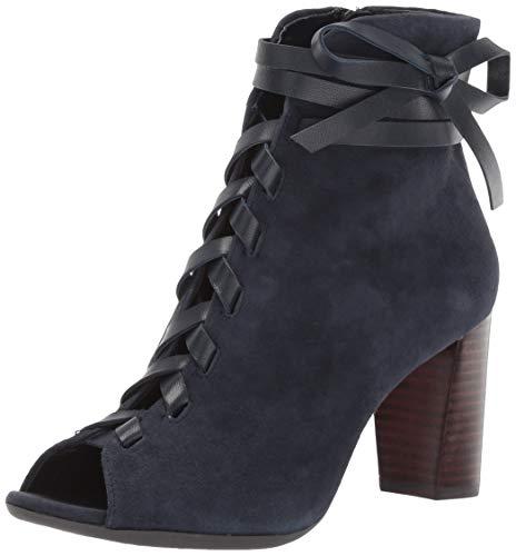 Aerosoles Women's Pretty Bird Fashion Boot Blue Suede 9.5 M US