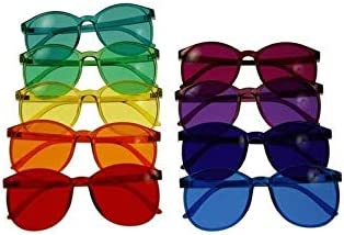 Color Therapy Glasses Round Style Set of 9 Colors Also Available in Set of 7