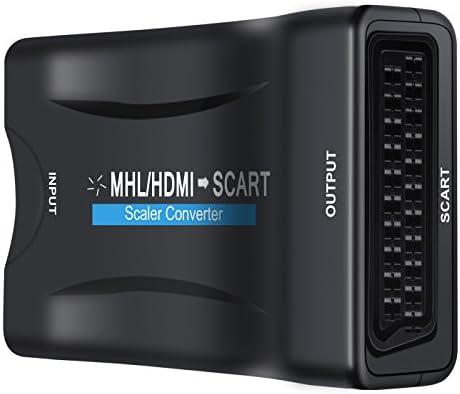 Olrick 1080P HDMI a SCART convertidor de Video Audio estéreo HDMI Entrada Salida de euroconector para televisor DVD Sky HD BLU Ray DVD PS3: Amazon.es: Electrónica