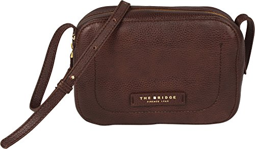 The Bridge Plume Soft Donna Borsa a tracolla pelle 21 cm Nero-goldfarben