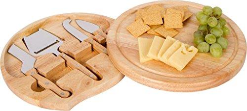 Round Bamboo Cheese Board Swivel