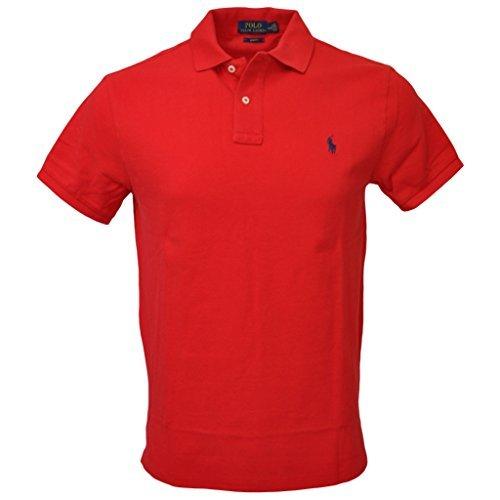 Polo Ralph Lauren Men Slim Fit Mesh Polo Shirt, Red, ()
