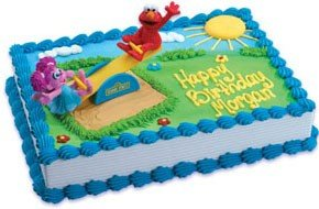 Amazoncom Bakery Crafts Sesame Street Elmo And Abby Playground - Elmo and abby birthday cake