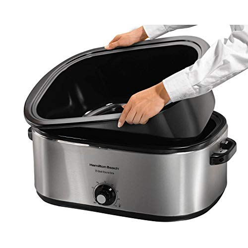 Hamilton Beach 28 lb 22-Quart Roaster Oven with Self-Basting Lid Stainless Steel